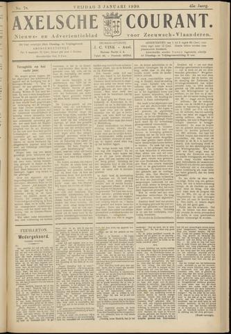 Axelsche Courant 1930-01-03