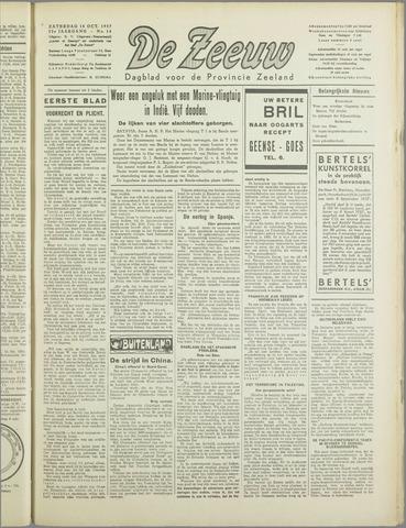 De Zeeuw. Christelijk-historisch nieuwsblad voor Zeeland 1937-10-16