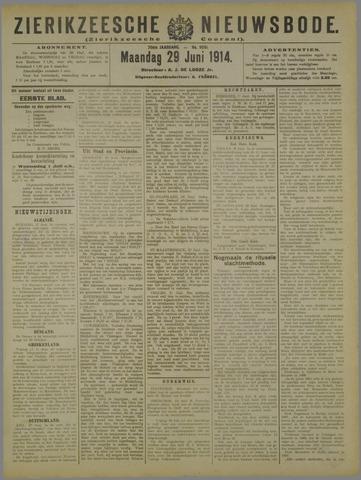 Zierikzeesche Nieuwsbode 1914-06-29