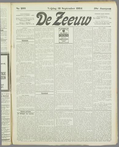 De Zeeuw. Christelijk-historisch nieuwsblad voor Zeeland 1924-09-12