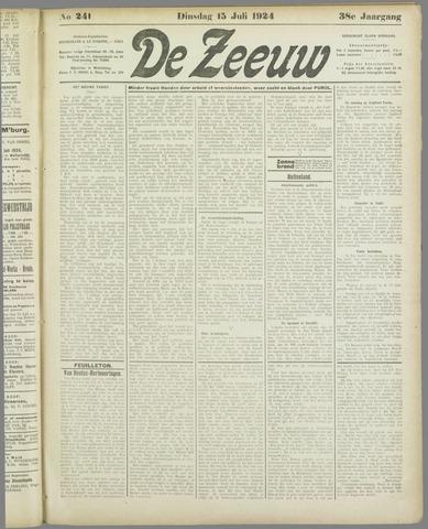 De Zeeuw. Christelijk-historisch nieuwsblad voor Zeeland 1924-07-15
