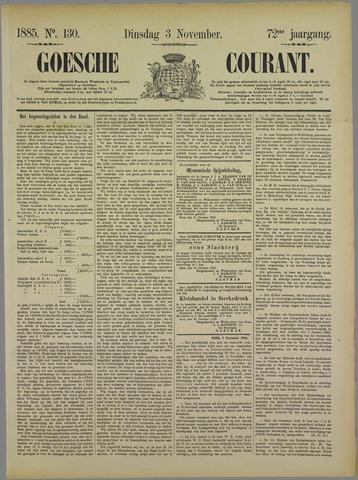 Goessche Courant 1885-11-03