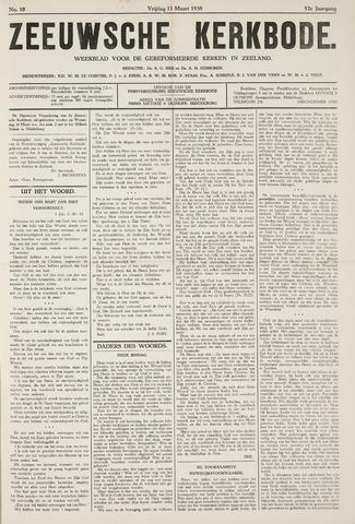 Zeeuwsche kerkbode, weekblad gewijd aan de belangen der gereformeerde kerken/ Zeeuwsch kerkblad 1938-03-11