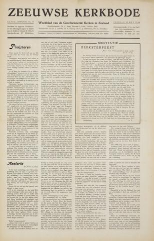 Zeeuwsche kerkbode, weekblad gewijd aan de belangen der gereformeerde kerken/ Zeeuwsch kerkblad 1956-05-18
