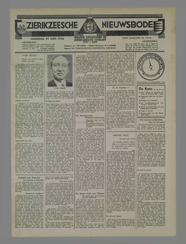 Zierikzeesche Nieuwsbode 1936-06-29