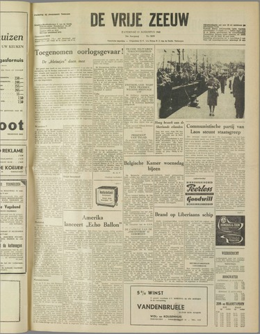 de Vrije Zeeuw 1960-08-13