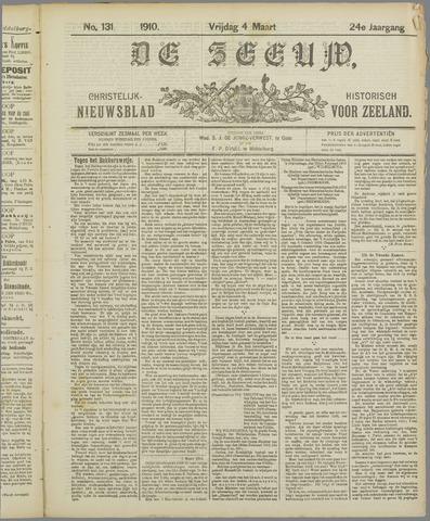 De Zeeuw. Christelijk-historisch nieuwsblad voor Zeeland 1910-03-04