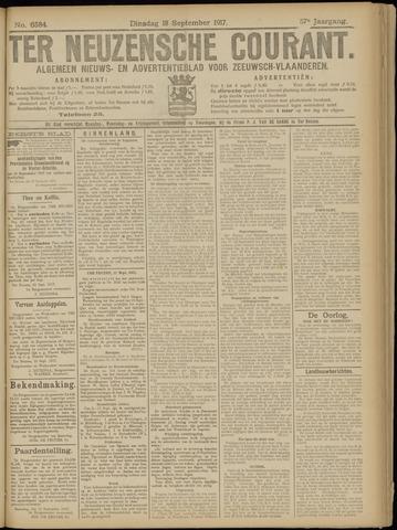 Ter Neuzensche Courant. Algemeen Nieuws- en Advertentieblad voor Zeeuwsch-Vlaanderen / Neuzensche Courant ... (idem) / (Algemeen) nieuws en advertentieblad voor Zeeuwsch-Vlaanderen 1917-09-18