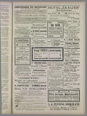 """""""Vooruit!""""Officieel Nieuws- en Advertentieblad voor Overflakkee en Goedereede 1911-09-23"""