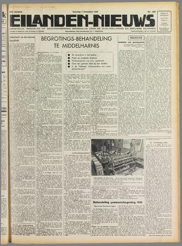 Eilanden-nieuws. Christelijk streekblad op gereformeerde grondslag 1949-11-05