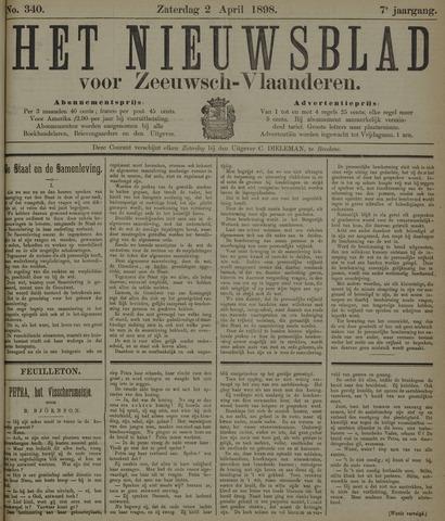 Nieuwsblad voor Zeeuwsch-Vlaanderen 1898-04-02