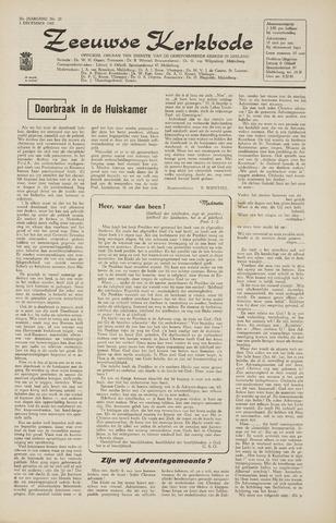 Zeeuwsche kerkbode, weekblad gewijd aan de belangen der gereformeerde kerken/ Zeeuwsch kerkblad 1965-12-03