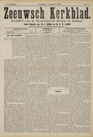 Zeeuwsche kerkbode, weekblad gewijd aan de belangen der gereformeerde kerken/ Zeeuwsch kerkblad 1909-08-06