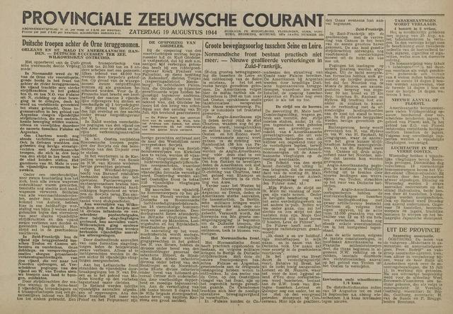 Provinciale Zeeuwse Courant 1944-08-19