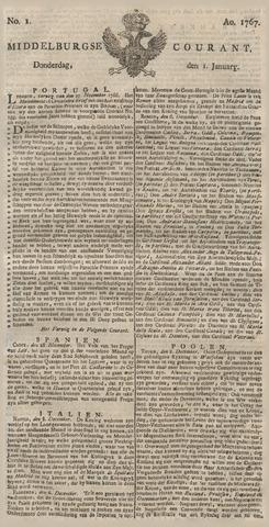 Middelburgsche Courant 1767