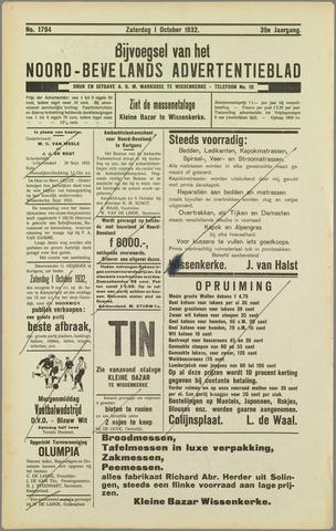 Noord-Bevelands Nieuws- en advertentieblad 1932-10-01