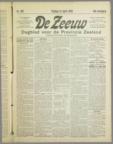 De Zeeuw. Christelijk-historisch nieuwsblad voor Zeeland 1929-04-12