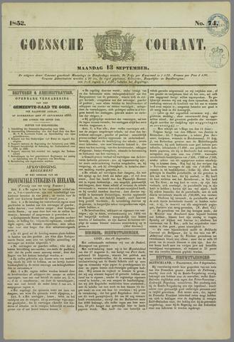 Goessche Courant 1852-09-13