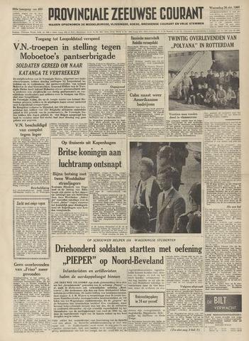Provinciale Zeeuwse Courant 1960-10-26