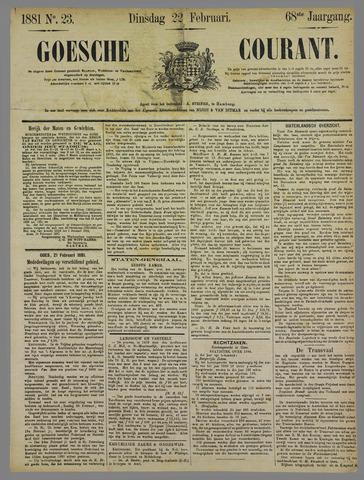 Goessche Courant 1881-02-22
