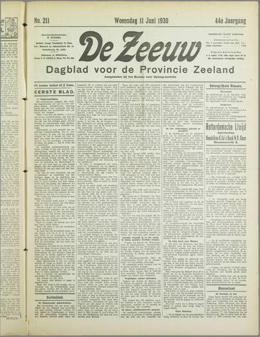 De Zeeuw. Christelijk-historisch nieuwsblad voor Zeeland 1930-06-11
