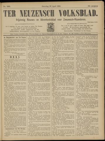Ter Neuzensch Volksblad. Vrijzinnig nieuws- en advertentieblad voor Zeeuwsch- Vlaanderen / Zeeuwsch Nieuwsblad. Nieuws- en advertentieblad voor Zeeland 1912-04-20