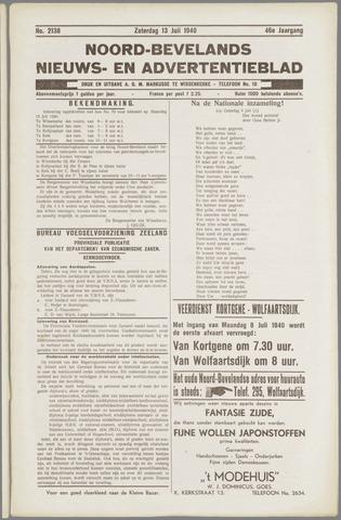 Noord-Bevelands Nieuws- en advertentieblad 1940-07-13