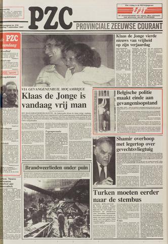 Provinciale Zeeuwse Courant 1987-09-07
