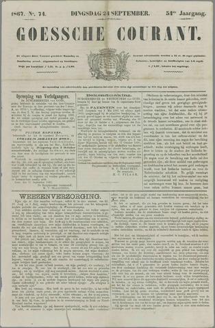 Goessche Courant 1867-09-24
