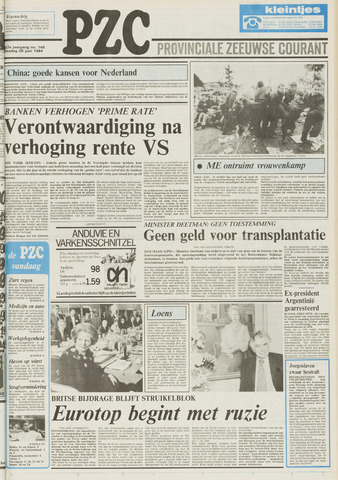 Provinciale Zeeuwse Courant 1984-06-26