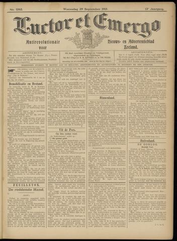Luctor et Emergo. Antirevolutionair nieuws- en advertentieblad voor Zeeland / Zeeuwsch-Vlaanderen. Orgaan ter verspreiding van de christelijke beginselen in Zeeuwsch-Vlaanderen 1915-09-29
