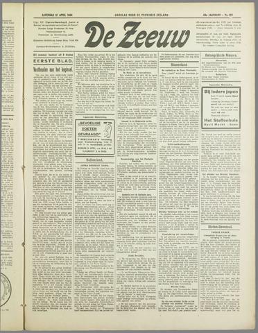 De Zeeuw. Christelijk-historisch nieuwsblad voor Zeeland 1934-04-21