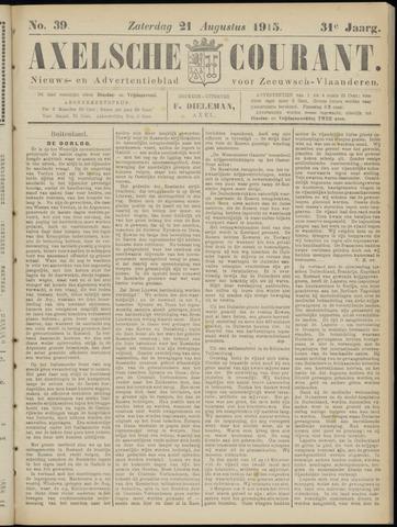 Axelsche Courant 1915-08-21