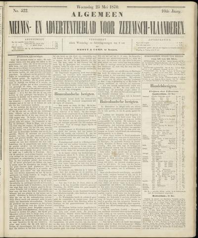 Ter Neuzensche Courant. Algemeen Nieuws- en Advertentieblad voor Zeeuwsch-Vlaanderen / Neuzensche Courant ... (idem) / (Algemeen) nieuws en advertentieblad voor Zeeuwsch-Vlaanderen 1870-05-25