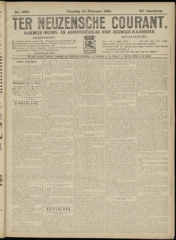 Ter Neuzensche Courant. Algemeen Nieuws- en Advertentieblad voor Zeeuwsch-Vlaanderen / Neuzensche Courant ... (idem) / (Algemeen) nieuws en advertentieblad voor Zeeuwsch-Vlaanderen 1920-02-24
