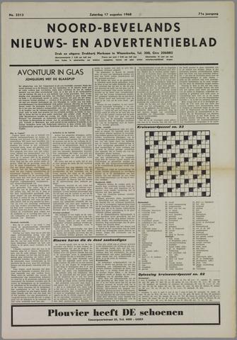 Noord-Bevelands Nieuws- en advertentieblad 1968-08-17