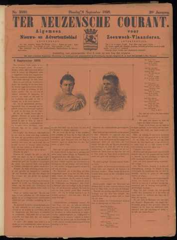 Ter Neuzensche Courant. Algemeen Nieuws- en Advertentieblad voor Zeeuwsch-Vlaanderen / Neuzensche Courant ... (idem) / (Algemeen) nieuws en advertentieblad voor Zeeuwsch-Vlaanderen 1898-09-06