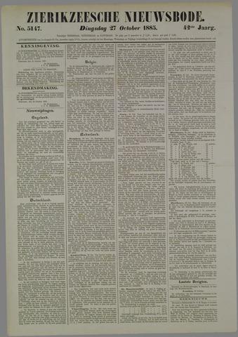 Zierikzeesche Nieuwsbode 1885-10-27
