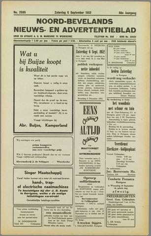 Noord-Bevelands Nieuws- en advertentieblad 1952-09-06
