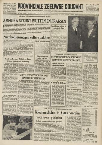 Provinciale Zeeuwse Courant 1956-09-12