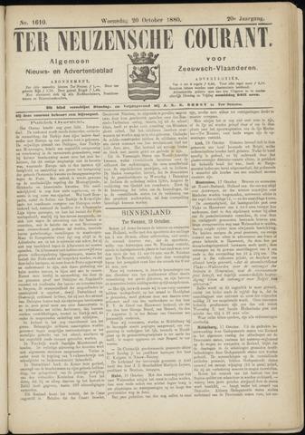 Ter Neuzensche Courant. Algemeen Nieuws- en Advertentieblad voor Zeeuwsch-Vlaanderen / Neuzensche Courant ... (idem) / (Algemeen) nieuws en advertentieblad voor Zeeuwsch-Vlaanderen 1880-10-20