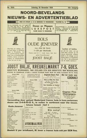 Noord-Bevelands Nieuws- en advertentieblad 1938-11-26