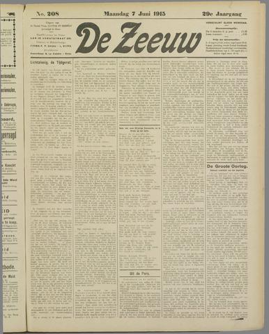De Zeeuw. Christelijk-historisch nieuwsblad voor Zeeland 1915-06-07