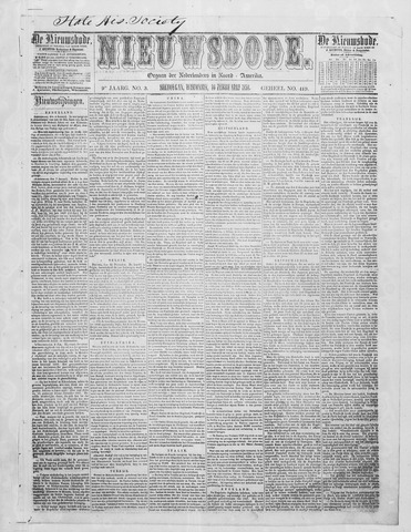 Sheboygan Nieuwsbode 1858-02-16