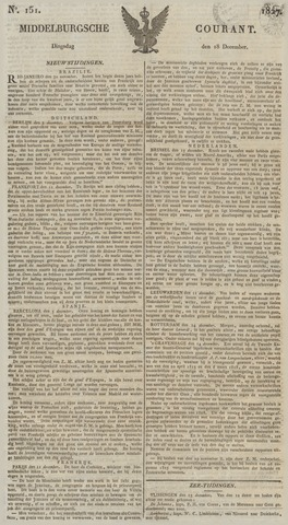 Middelburgsche Courant 1827-12-18