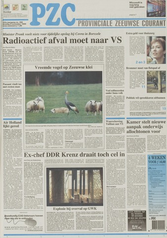 Provinciale Zeeuwse Courant 1999-11-09