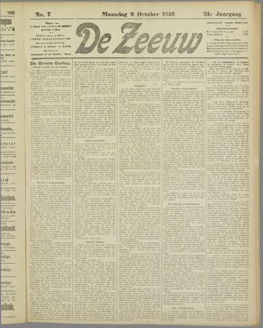 De Zeeuw. Christelijk-historisch nieuwsblad voor Zeeland 1916-10-09