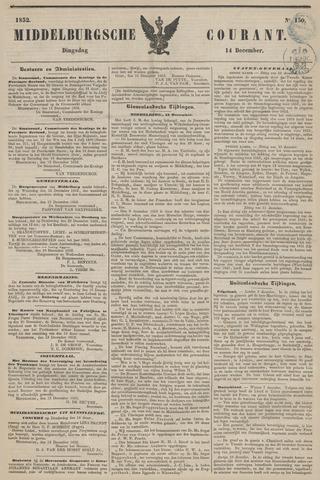 Middelburgsche Courant 1852-12-14