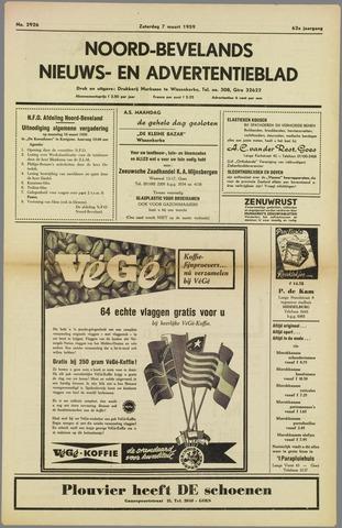 Noord-Bevelands Nieuws- en advertentieblad 1959-03-07