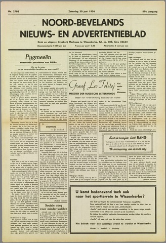 Noord-Bevelands Nieuws- en advertentieblad 1956-06-30